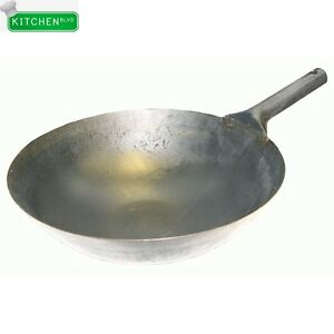 Single Handle Iron Wok 16 X 5 25