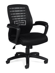 Lot Of 10 Black Mesh Computer Desk Office Chairs