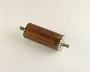 New Sprague 0 02uf 3000v Vitamin Q High Voltage Oil Capacitor 0 02mfd