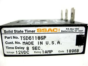 Ssac Solid State Timer Tsd6118sp Digi timer Timing Module interval Dc New