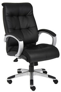 Lot Of 12 Black Leather High Back Conference Room Office Chairs