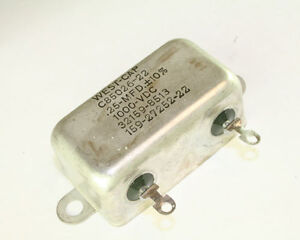 New 25uf 1000vdc Paper In Oil Hermetically Sealed Capacitor 0 25mfd 1000v