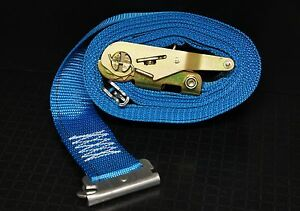 4 20 E Track Ratchet Straps Enclosed Trailer Truck Cargo Van Tie Down Strap