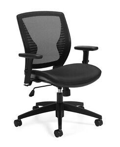 Lot Of 10 Stylish Mesh Back Computer Desk Office Chairs With Adjustable Arms