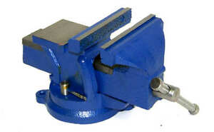 Heavy Duty 5 Bench Vise With Anvil Swivel Locking Base Table Top