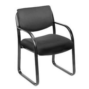 Lot Of 12 Boss Black Fabric Guest Office Chairs With Steel Frame