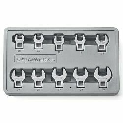 Gearwrench 81909 3 8 Drive Metric Crowfoot Wrench Set 10 Piece