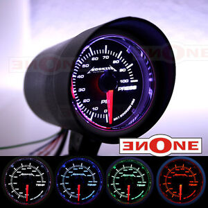 Mounting Pod 52mm Tinted Led Electrical 100psi Fuel Pressure Gauge