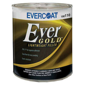 0 8 Gallon Evercoat Evergold Lightweight Body Filler 110 Auto Collision Repair