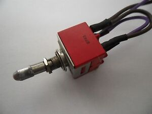 C k 9201 Power Toggle Switch Lever Lock Dpdt On on 6 Amps Shut off Switch