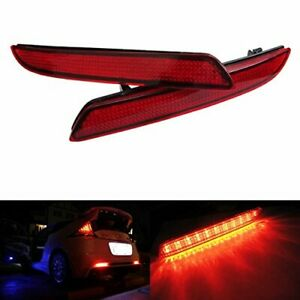 Red Lens Led Bumper Reflectors For Honda Cr Z Crv Insight Taillight Brake Lights