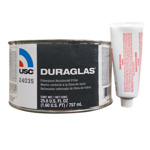25 6 Oz Usc Duraglas Fiberglass Reinforced Auto Body Filler With Hardener 24035