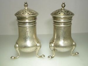 Antique Gorham Sterling Silver A4957 Tri Footed Salts