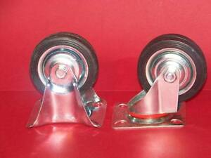 16 New 3 8 Swivel And 8 Fixed Caster Rubber Wheels