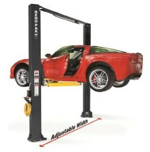 Bendpak 10 000 Lb 2 Post Drive On Asymmetric Clearfloor Car Repair Lift Xpr 10as