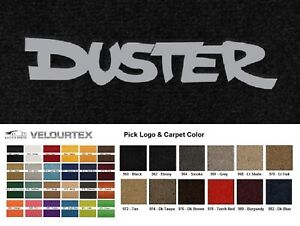 Lloyd Mats Plymouth Duster Custom Velourtex Front Floor Mats 1970 1976