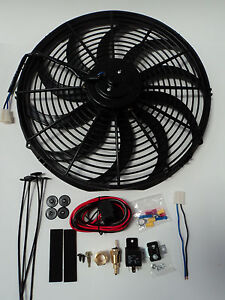 16 Electric Fan 3000 Cfm Wiring Install Kit Complete Thermostat 50 Amp Relay