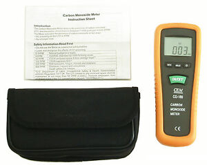 Co 180 New Digital Lcd Carbon Monoxide Co Gas Meter Beeper With Carrying Pouch