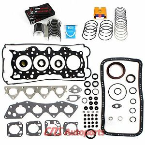Acura Integra 1 8l Engine Re ring Kit B18a1 B18b1 Full Gasket Set Bearings Rings