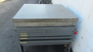 Granite Surface Plate 4 x4 2 Ledge W stand Y 690