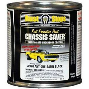 Magnet Paint Ucp970 16 Chassis Saver Paint Satin Black 8 Oz Can