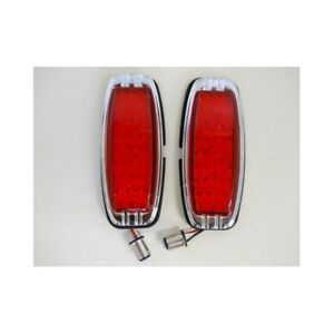 1941 1948 Chevy 39 Led Red Brake Turn Signal Tail Lights 1942 43 44 45 46 47