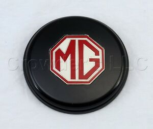 Classico Horn Button Emblem Black Emblem With Large Mg Red White Logo