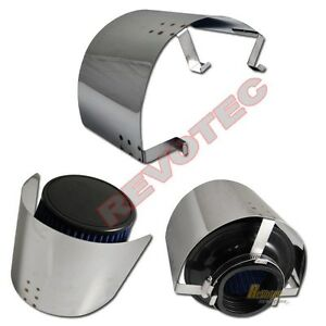 3 3 5 Cone Filter Air Intake Heat Shield Stainless Steel Universal