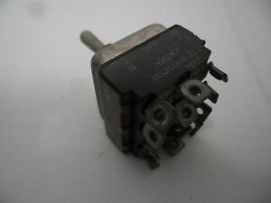Aircraft Cockpit Eaton Toggle Switch 4pdt On Off on 7662k7 Ms25068 21