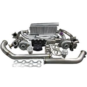 Twin Turbo Intercooler Kit For 79 93 Ford Foxbody Mustang 5 0l Dual T04e 700 Hp