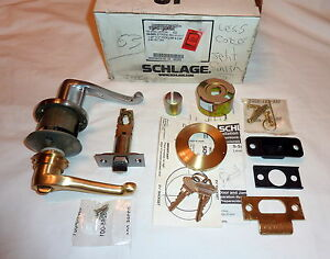 Schlage Passage Latchset Flair Satin Chrome Satin Brass Less Core New In Box