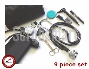 Beginner Nurse Student Starter Kit Stethoscope Bp Otoscope Scissor more Nk 01