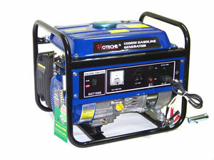 Hoteche New 1500 Watts Portable Gasoline Electric Power Generator 4 Stroke