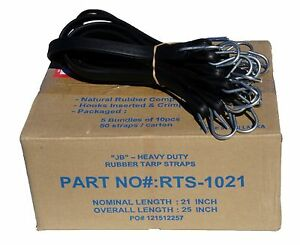 50 21 Jb Heavy Duty Natural Rubber Tarp Strap Tarp Tie Downs Straps Bungees