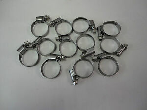 Free Ship 12 Count Norma Torro Stainless 16 28mm 5 8 To 1 3 32 Hose Clamps