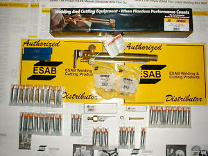 Esab Oxweld C 58 Machine Cutting Torch And Spare Parts Lot