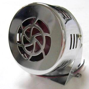 New 50s Type 12v Motor Driven Chrome Air Raid Siren Horn Alarm Car Truck 12 Volt