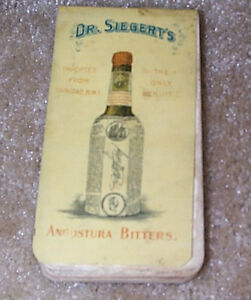 1900 Dr Siegert S Angostura Bitters Quack Medical Celluloid Advertising Pad