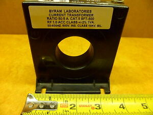 Byram Laboratories Current Transformer 50 5 A Cat 5 Sft 500 Rf1 0 Acc Class