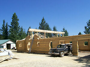 1592 Sq Ft 10 Swedish Coped Log Home Package With 26 x30 garage
