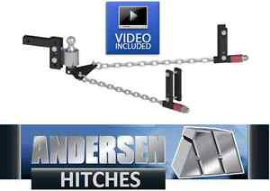 Andersen 3385 No sway Weight Distribution Hitch 2 5 16 Ball 4 rise drop 8 frame