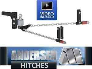 Andersen 3326 No sway Weight Distribution Hitch 2 Ball 5 6 Frame 8 Rise drop