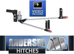 Andersen 3386 No sway Weight Distribution Hitch 2 5 16 Ball 8 frame 8 rise drop