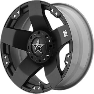 Kmc Xd775 Rockstar Xd77589087300 18x9 0mm Offset 8x170 M Black Single Rim