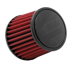 Aem 21 202dk Dryflow Universal Round Air Filter 6 base Od 5 125 top Od 5 25 h