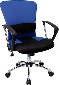 Lot Of 6 Blue Mesh Office Desk Chairs With Arms
