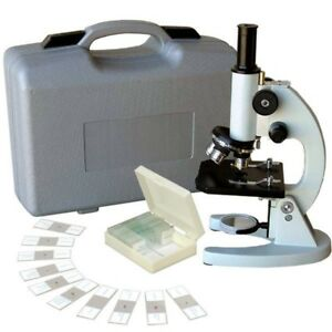 Amscope 40x 640x Metal Body Glass Lens Student Microscope With Abs Case