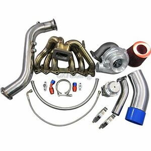 Gt35 Turbo Kit Manifold Downpipe Air Intake For 1jzgte 1jz gte Gs300 Sc300 Supra