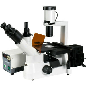 Amscope 40x 600x Plan Phase Contrast Culture Fluorescent Inverted Microscope