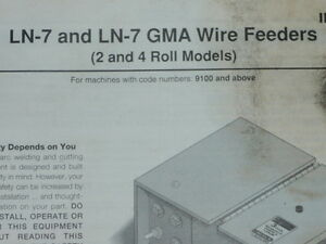 Lincoln Electric Ln 7 Gma Wire Feeders Machines 9100 Operator s Manual Im351 c